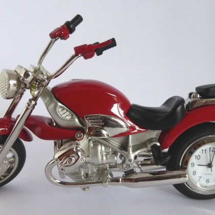 Novelty Red Motorbike Clock