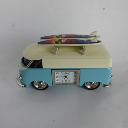 Novelty Blue Campervan Clock