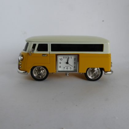 Novelty Yellow & Cream Campervan Clock